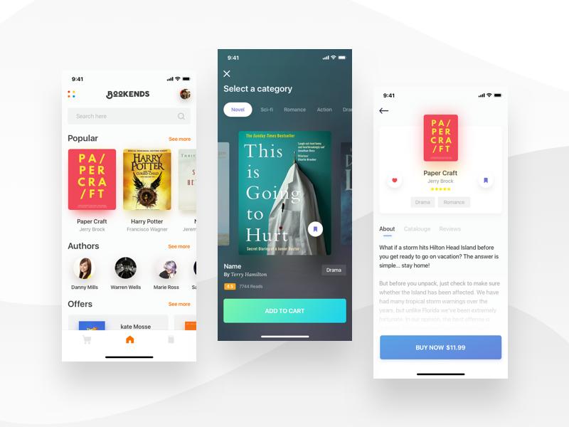 Book Store App Design App Store Design Android App Design App Design