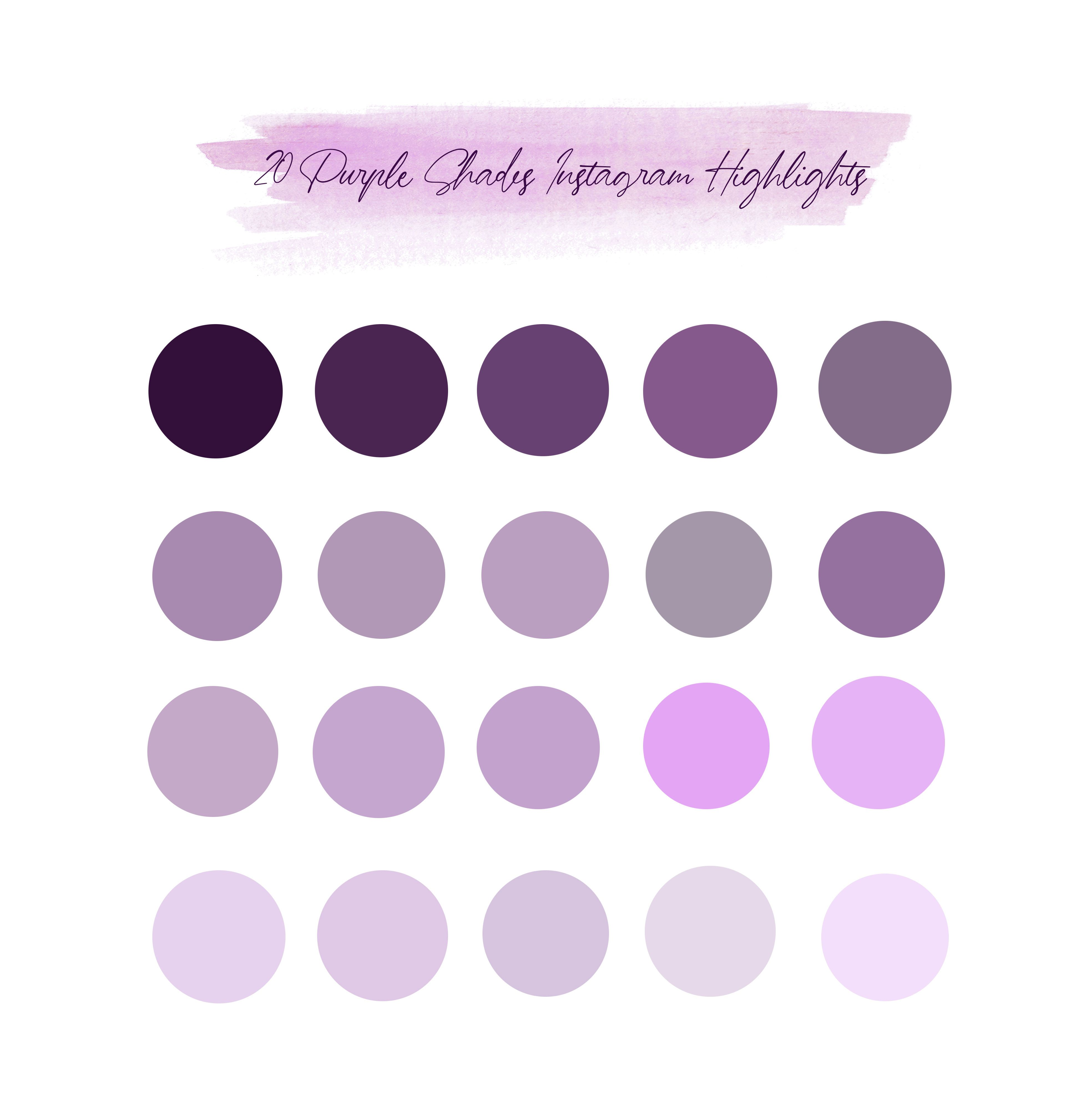 20 Purple Shades Instagram Highlight Icons Instagram