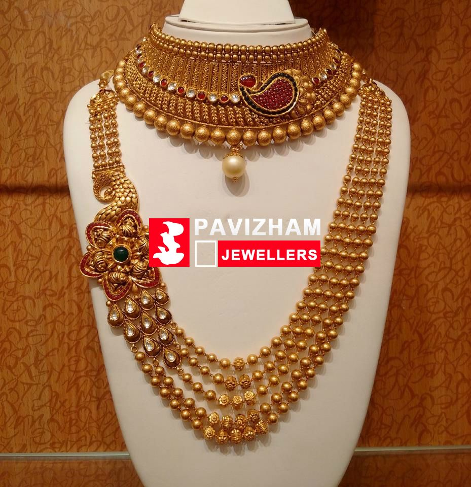Pin by pavizham jewellers on Gold Jewel new designs @ Pavizham ...