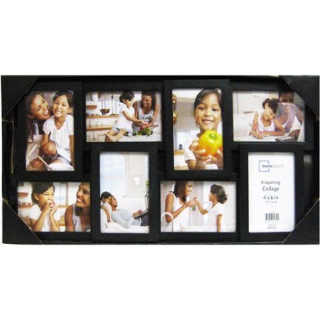 Mainstays 8 Opening 4x6 Collage Picture Frame Black Walmart Com