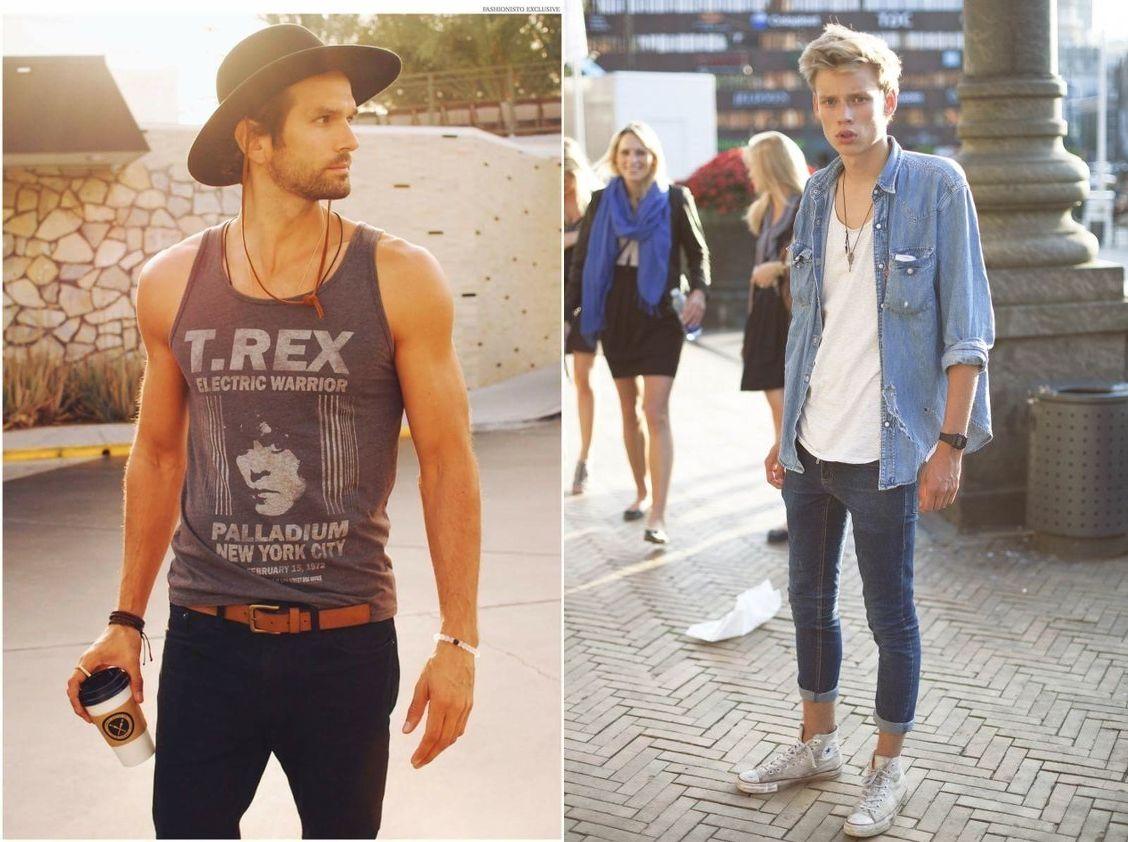 22 maneiras de como usar camiseta regata masculina - MODA SEM CENSURA  8d189c23bc1