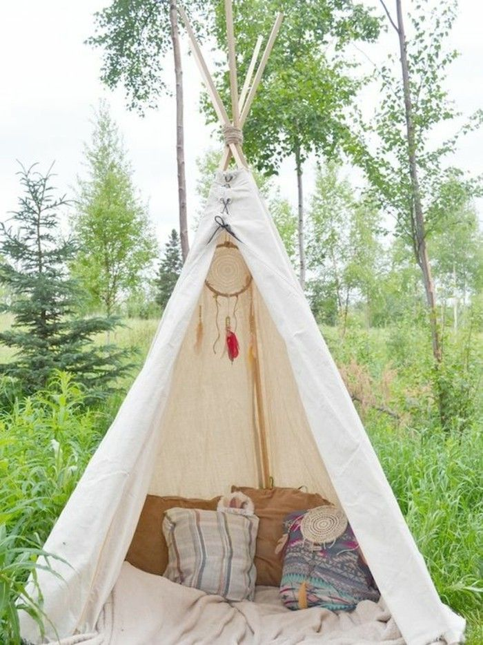comment fabriquer un tipi 60 id es pour une tente indienne sympa d co int rieure indiens et. Black Bedroom Furniture Sets. Home Design Ideas