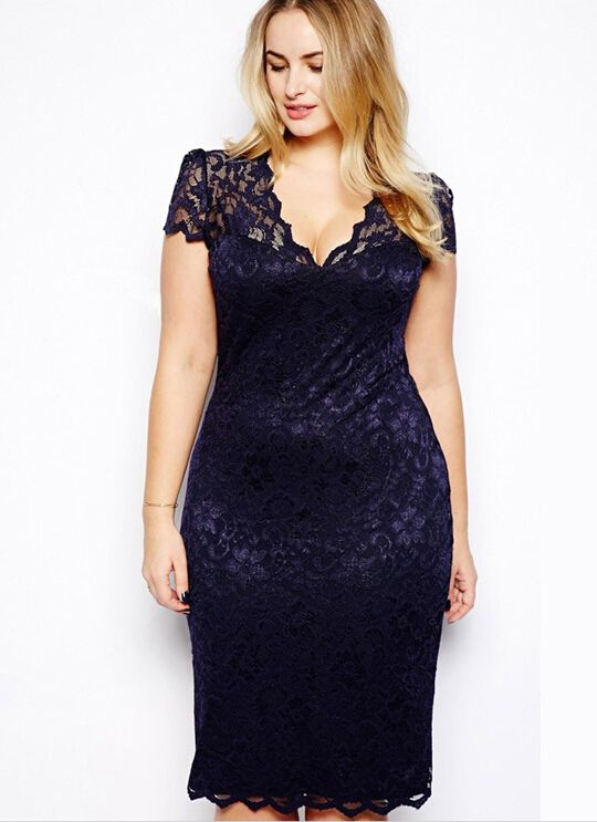 New Vestidos Big Plus Size Xxxl Sexy Casual Lace Party Bodycon Dresses For Chubby Girls Cheap
