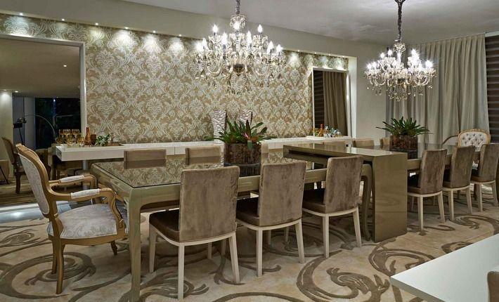 Cozinha Com Sala De Jantar De Luxo ~ de jantar decoração interiores sala de jantar sala de estar luxo
