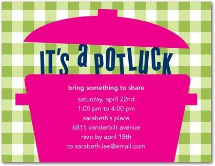 Snapshot potlucks party party and party invitations potluck party party invitations dwellstudio meadow green front stopboris Choice Image