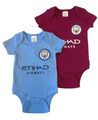 66e5049763c Manchester City Baby 2 Pack Bodysuits - 2017 18