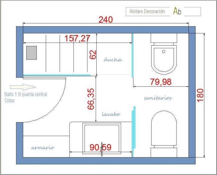 Distribucion ba o architecture design pinterest - Distribucion de banos pequenos ...