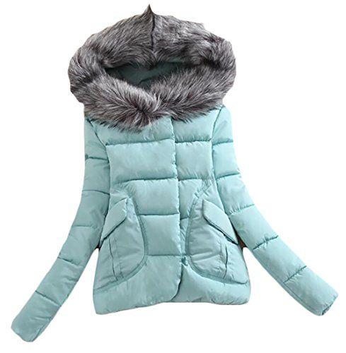Redshop Womens Winter Jacket Fur Collar Casual Outwear Parka Cardigan Slim Coat Overcoat