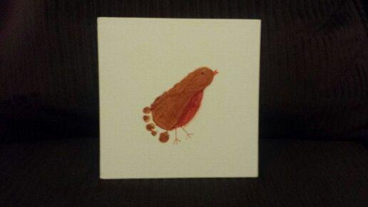 Bird footprint art for Grammy