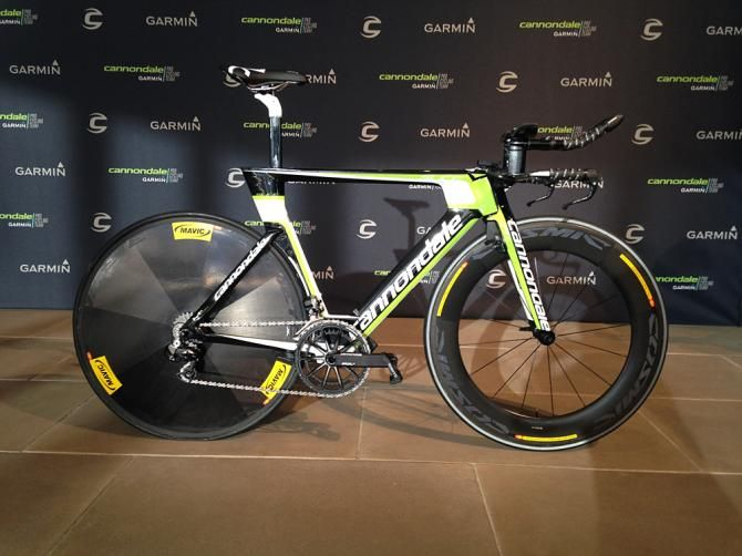A new issue Cannondale Garmin Slice RS time trial bike