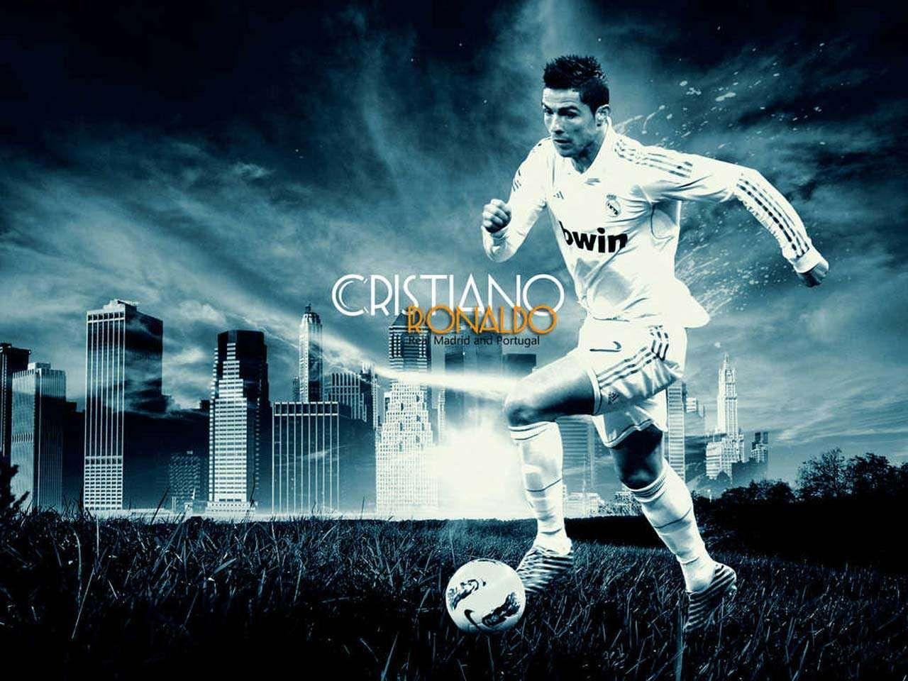 Best Cristiano Ronaldo Kick The Football Hd Wallpapers 400 x 300