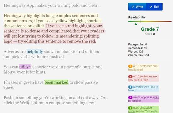รู้จัก Hemingway : เว็บไซต์ช่วยตรวจเรียงความภาษาอังกฤษ