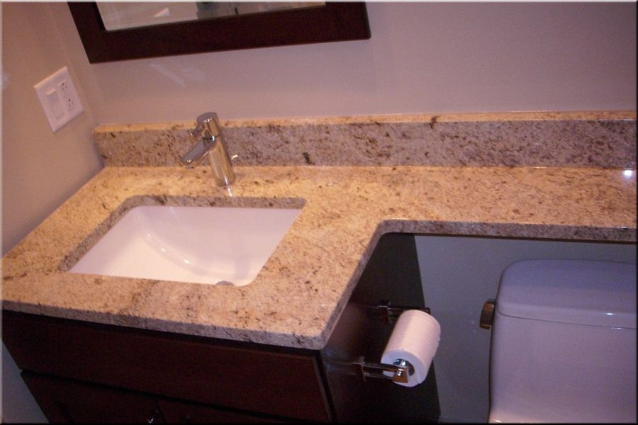 Built In Sink Granite Countertop With Undermount The Extends Over
