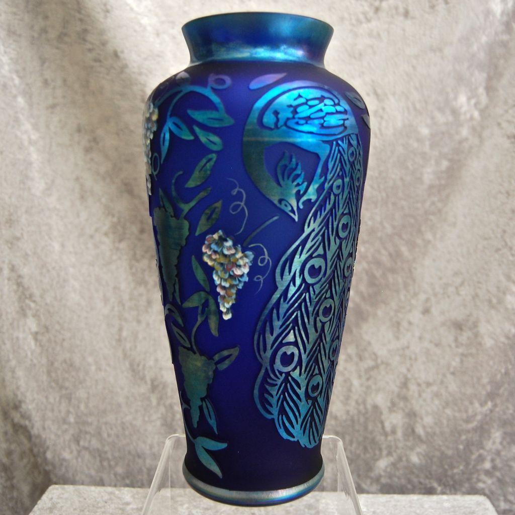 Fenton art glass peacock splendor cameo carved ltd ed vase fenton art glass peacock splendor cameo carved ltd ed vase reviewsmspy