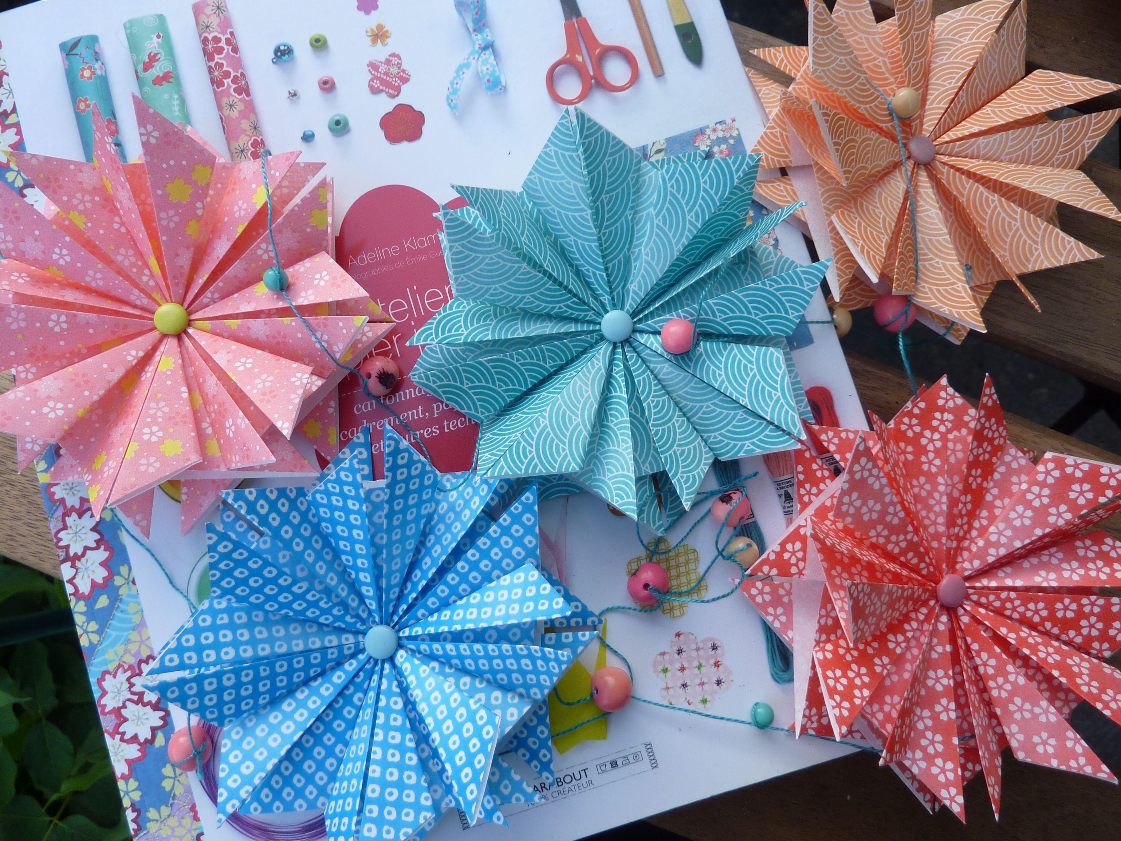 Guirlandes d'étoiles en papier japonais