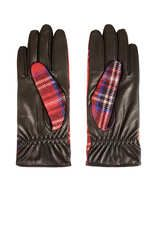 Topshop Wool Panel Gloves in Red