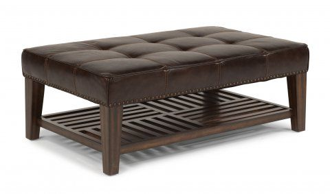 Finish & leather options? Port Royal Leather Rectangular Cocktail ...