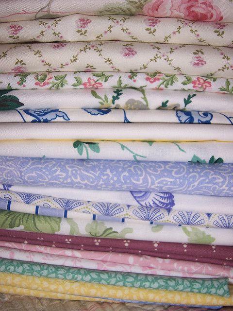Vintage Laura Ashley fabrics inc Palmetto, Ming, Kate, sapphire primrose, Rose Campion.