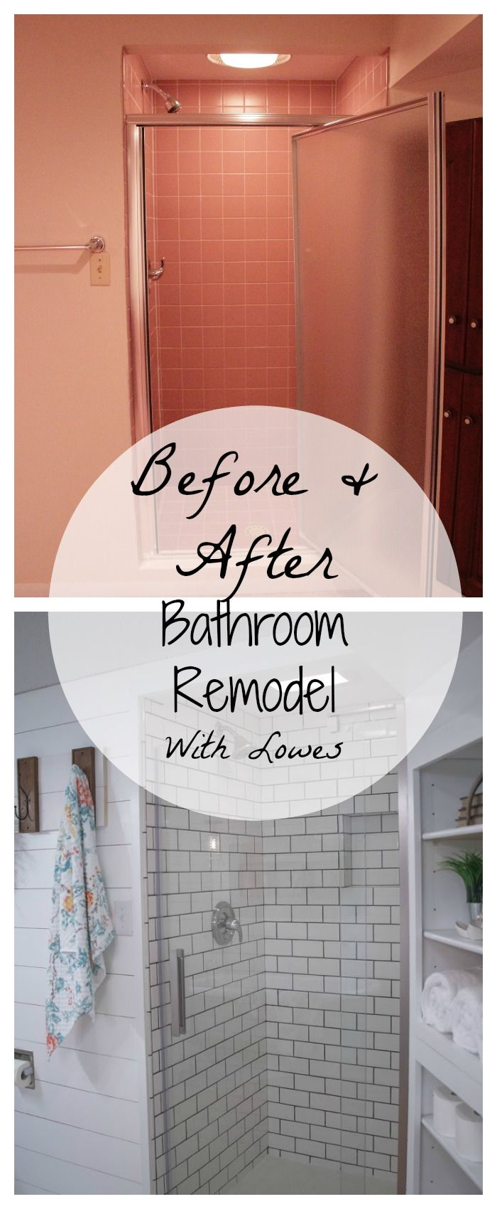 Before and After Bathroom Remodel With Lowes images