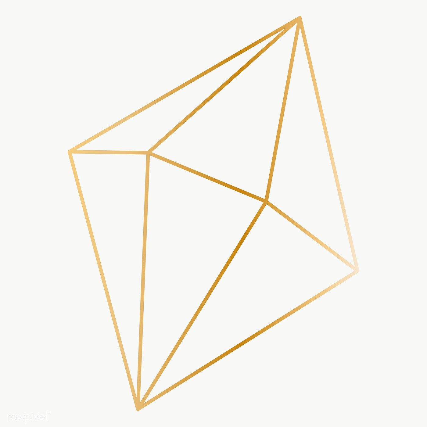 Minimal Gold Prism Shape Transparent Png Free Image By Rawpixel Com Katie Vector Background Pattern Geometric Diamond Prism Pattern