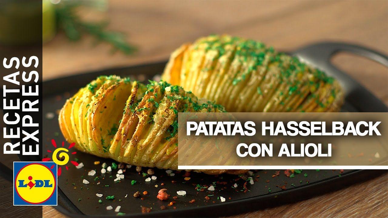 patatas haselback con alioli de curry