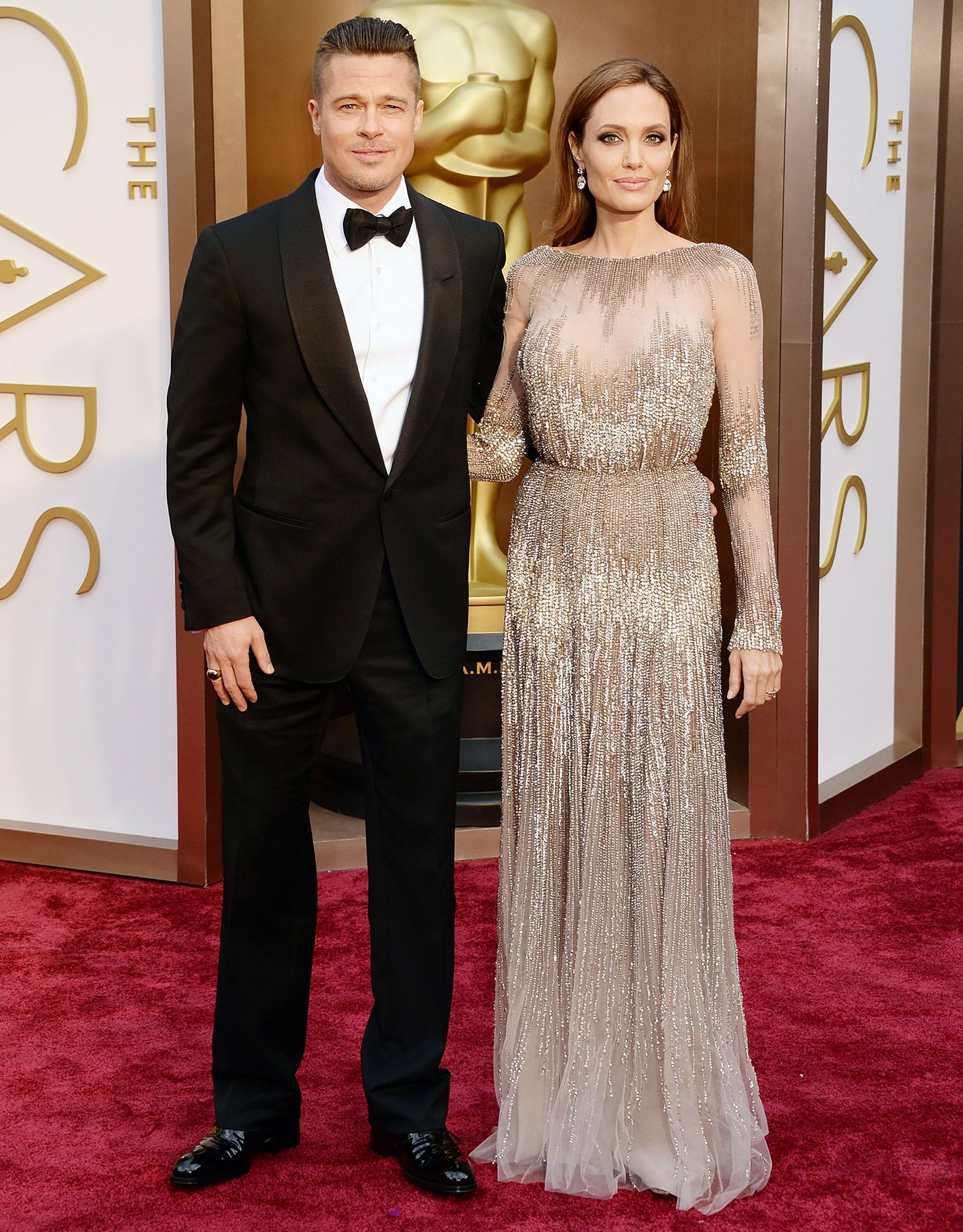 Brad Pitt And Angelina Jolie Are Married Red Carpet Oscars