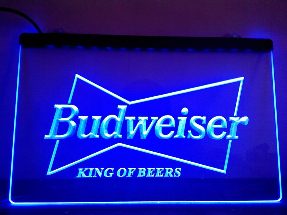 Led Sign Home Decor Impressive Budweiser King Beer Bar Pub Club Led Neon Light Sign Home Decor 2018