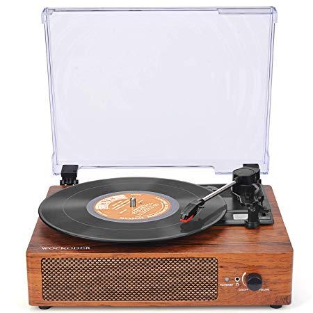 Amazon Com Record Player Turntable 3 Speed Vinyl Record Player With Stereo Speaker Be Vinyl Record Player Phonograph Record Player Best Portable Record Player