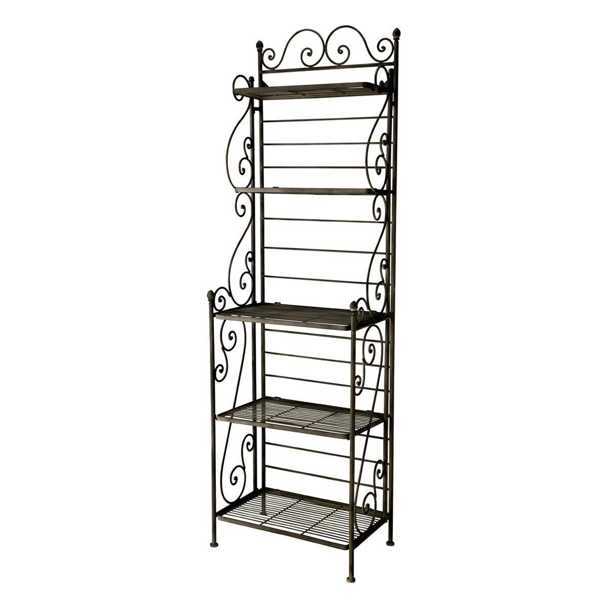 etag re de rangement fer forg marron manon home sweet. Black Bedroom Furniture Sets. Home Design Ideas