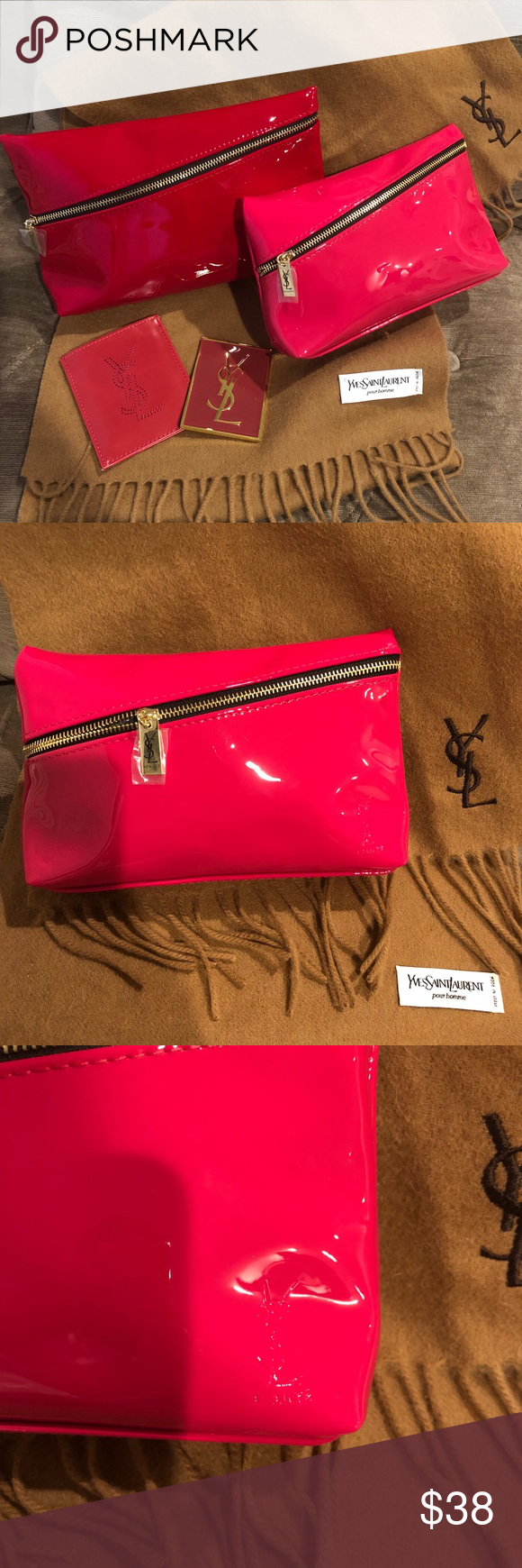376ea30a840b Authentic NWOT Yves Saint Laurent YSL Makeup Bag Authentic NWOT Yves Saint  Laurent YSL Makeup Bag