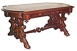 RENN REVIVAL LIBRARY TABLE BY THOMAS BROOKS (Image1)