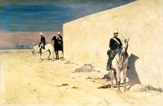La vedetta o Il muro bianco (1866) - Giovanni Fattori
