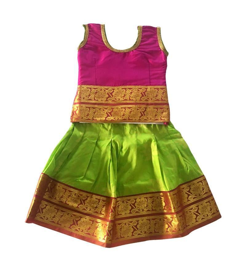 We Have The Best Quality Traditional Indian Pattu Pavadai Kerala Pattu Pavada Designer Pattu Langa Baby Dress Online Kids Frocks Design Kids Designer Dresses