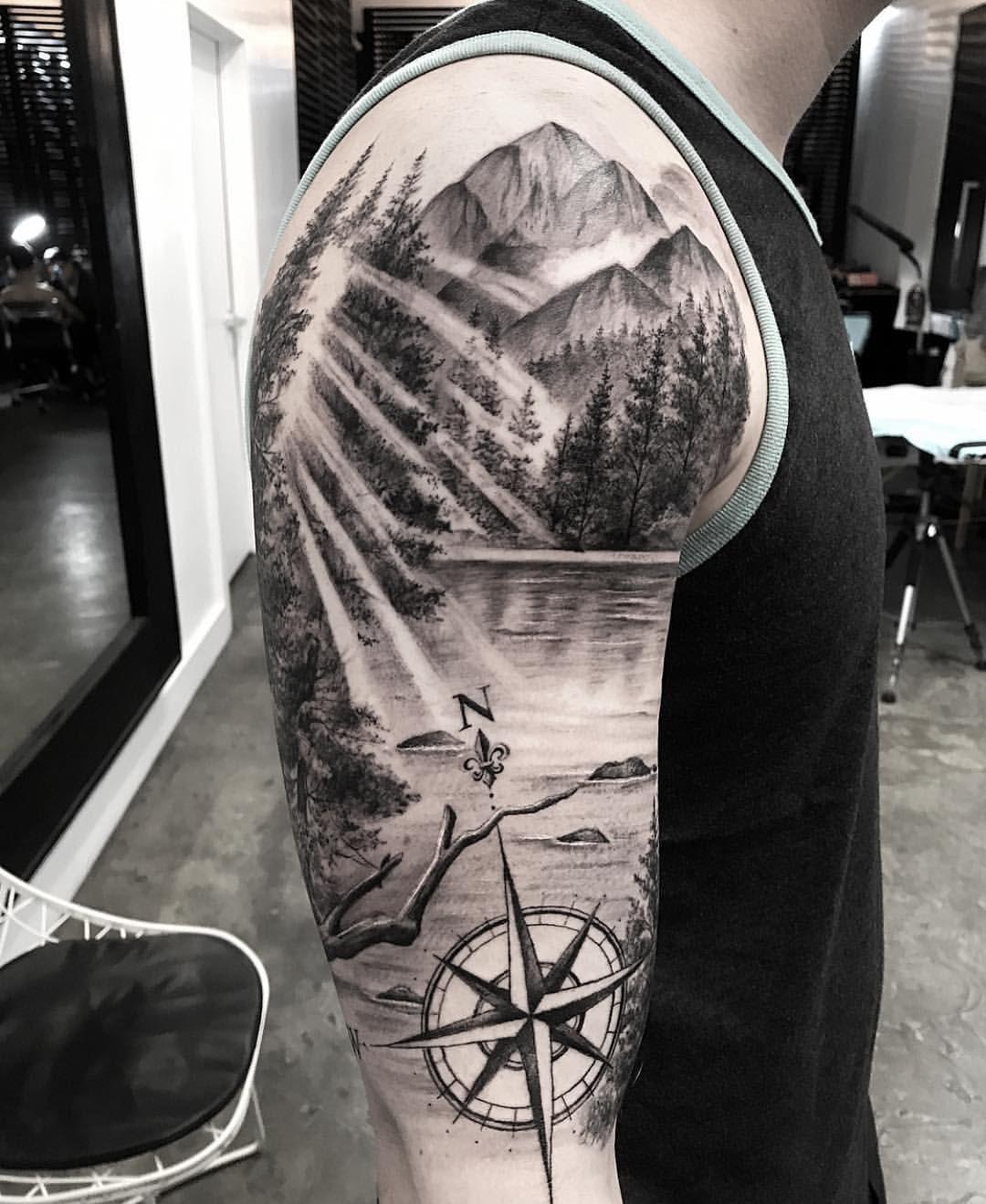 "Bang Bang Tattoo on Instagram ""🏞✨ @turan art"" is part of Tattoo - 31 1k Likes, 349 Comments  Bang Bang Tattoo (@bangbangnyc) on Instagram ""🏞✨ @turan art"""