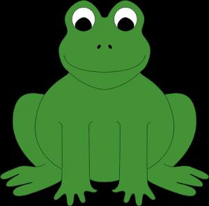 Der lachende, sitzende Frosch besteht lediglich aus einem auszuschneidenden Teil uns ist lässt sich somit sehr schnell basteln.