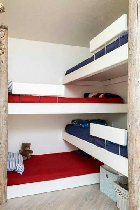 Four Beds In One Corner Woah Bunk Beds Built In Beds For