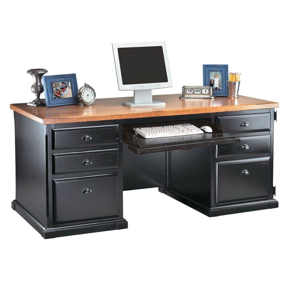 Distressed black and oak computer desk computer desks