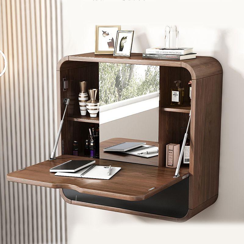 Bay window bedroom multifunctional wall-mounted dressing table