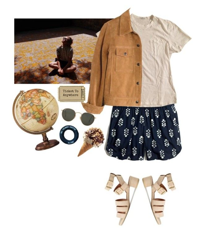 """""""Soak up the sun in this strange world"""" by vesleku on Polyvore featuring Madewell, James Perse and Ray-Ban"""