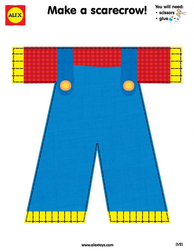 Make a scarecrow printables for preschool | Preschool:Scarecrows ...