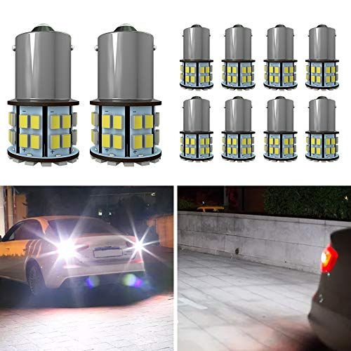 20 x DC12V 1156 1003 BA15S 18 SMD Interior RV Camper Cool White LED Light Bulbs