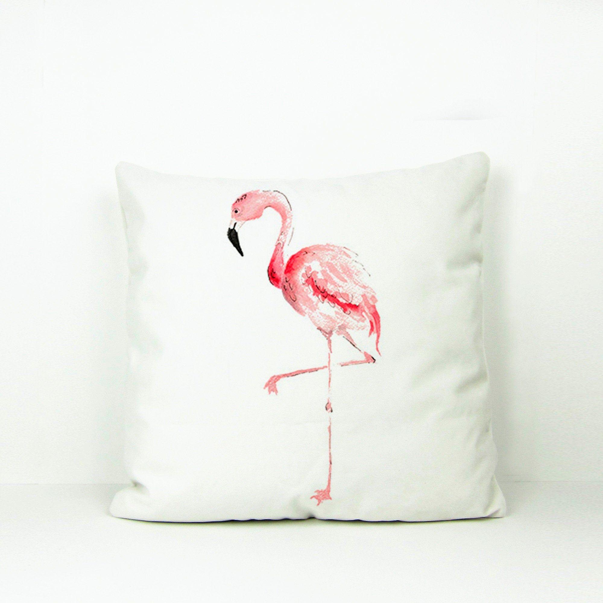 Flamingo Throw Pillow Flamingo Pillow Cover For Home Decor Etsy Flamingo Throw Pillows White Accent Pillow Throw Pillows