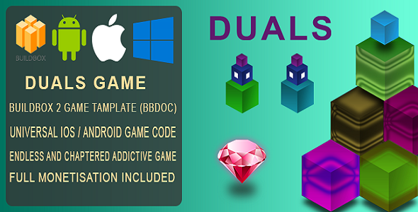 Duals BuildBox Game Template Document IOS Android BBDOC - Mobile game design document template