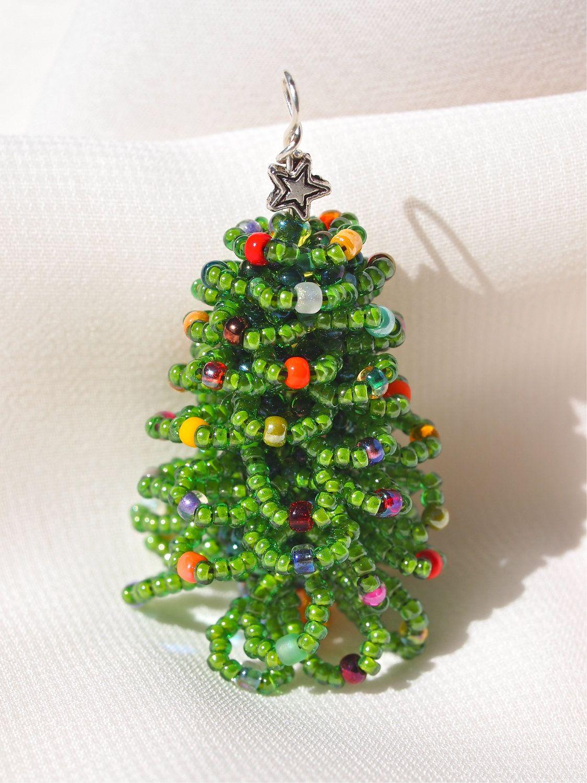 Beaded Christmas Tree Pendant or Ornament   Christmas ...