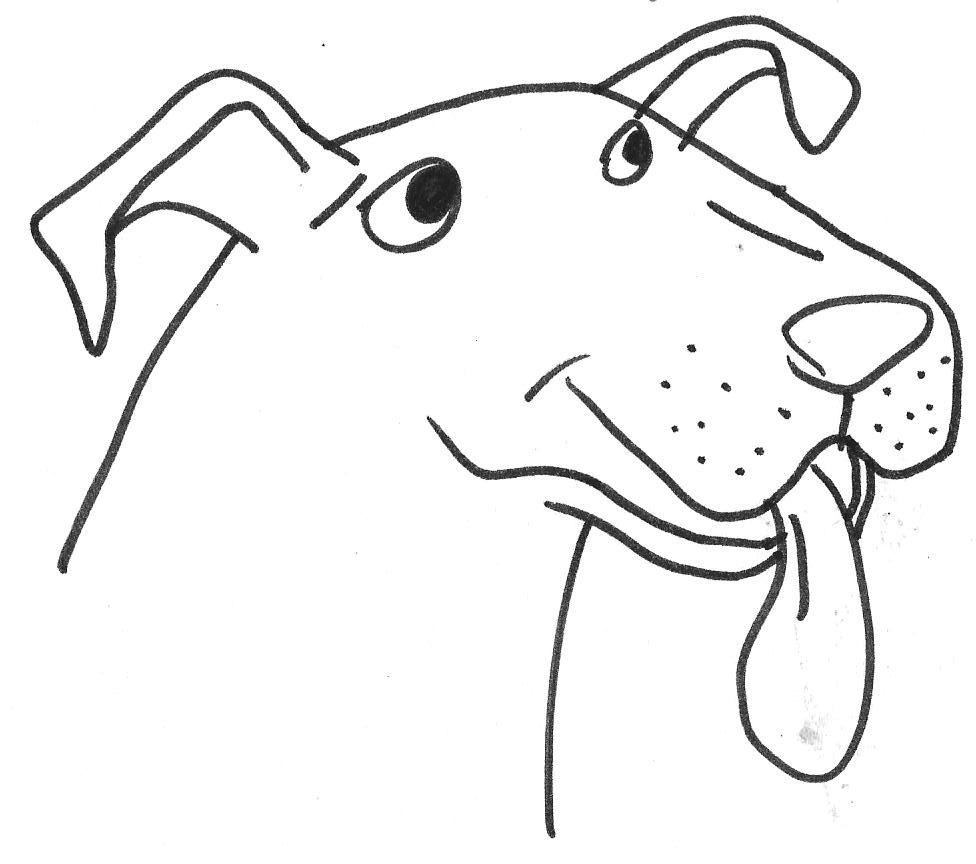 Online coloring tool - Drawings Of Dogs Pit Bull Terrier Bully Amstaff Dog Cartoon Caricature Art Drawing