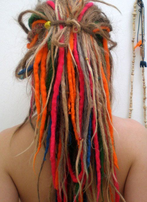 Wool and natural dreadlocks.