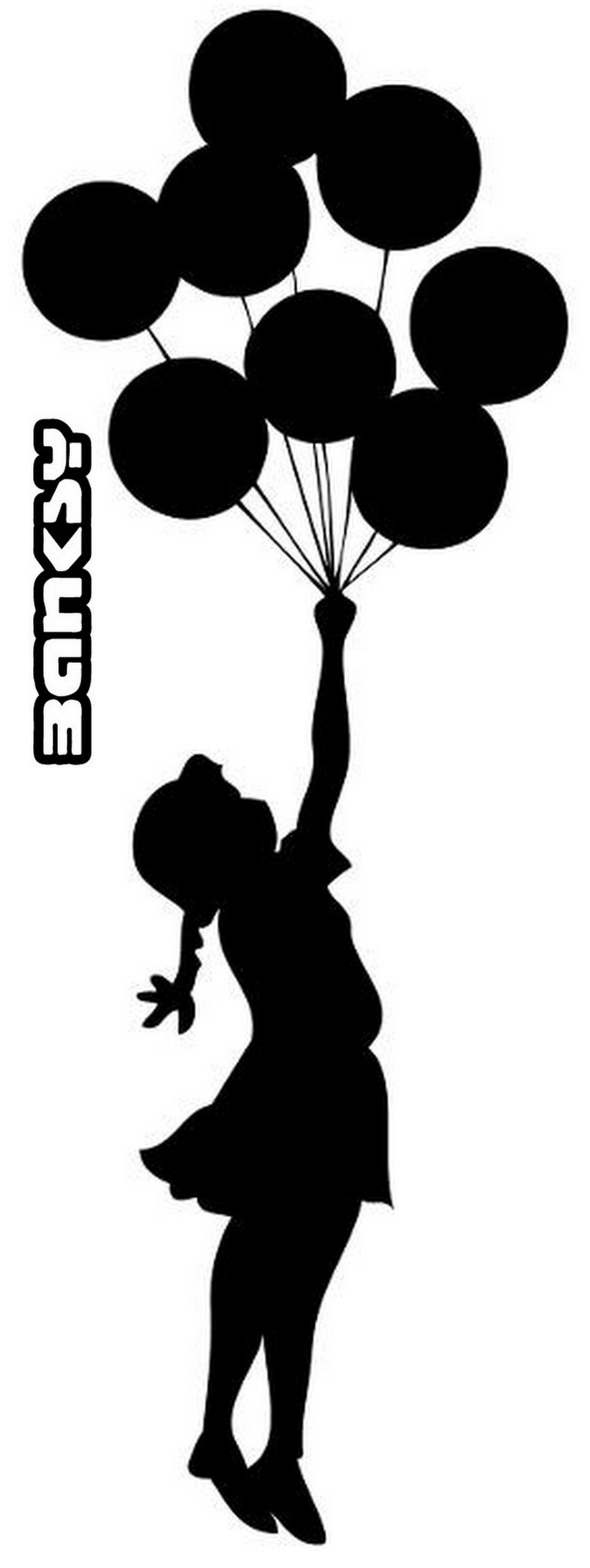 Portrait De Silhouette, Pochoir, Ballon