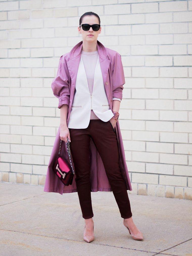 Coodenação de cores/Contraste alto - A.L.C leather pants, bittersweet colours, burgundy color, CHANEL, Christian Louboutin, layers, leather pants, pierre hardy, Pink coat, PINK ...