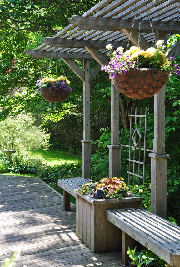 Macetas colgantes para terraza | Macetas originales para los ...