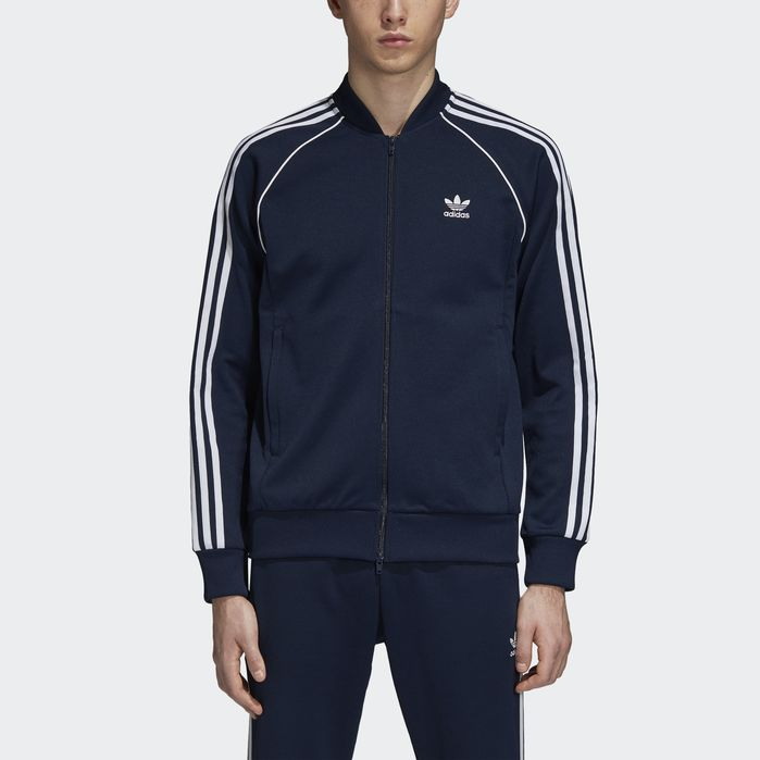 a85822b60 SST Track Jacket Navy Blue Mens in 2019 | Products | Blue adidas ...